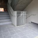 10.08.2021: Ein erster Blick ins Innere. So werden die Treppenhäuser aussehen.
